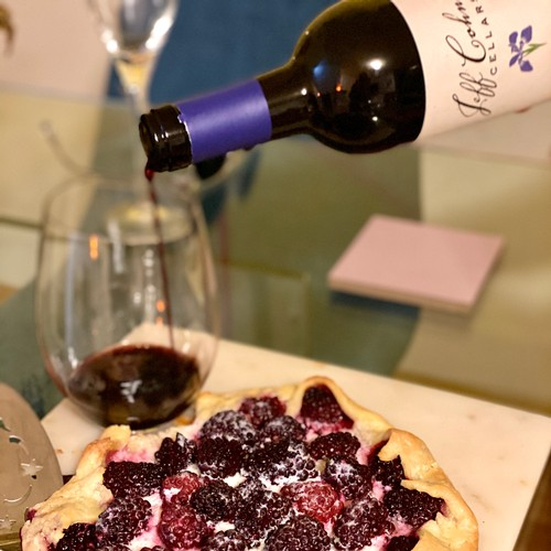 Blackberry Galette paired with Jeff Cohn Cellars Sweetwater Zinfandel