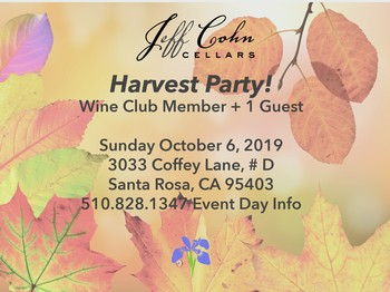 Harvest Party Wine Club Member +1